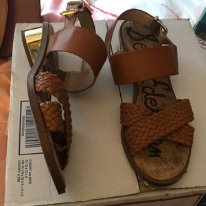 Sam Edelman teena 2 brown sandals.